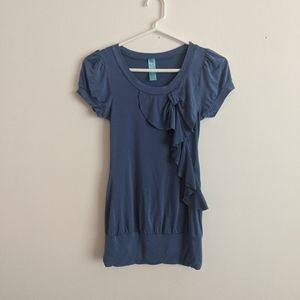 Cotton Top with Bow Detail